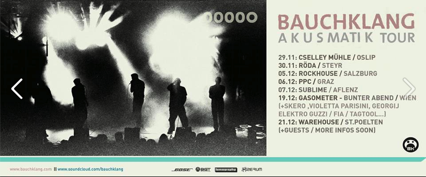 Bauchklang Akusmatik Tour remaining dates